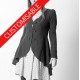 Designer steampunk swallowtail jacket, pleated back - CUSTOM HANDMADE