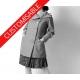 Manteau droit à col original et manches resserrées - PERSONNALISABLE