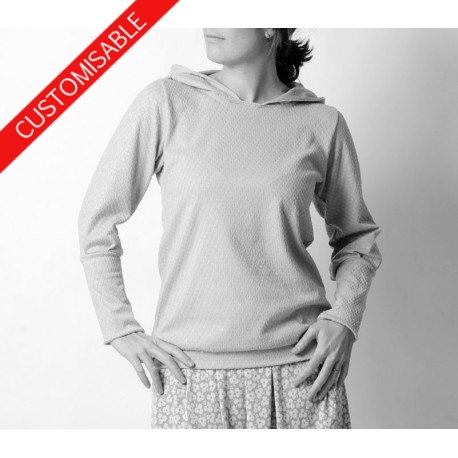 001f865c012ce Custom women's sweater, leg-of-mutton sleeves, with or without hood