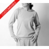 Womens sweater, leg-of-mutton sleeves, with or without hood - CUSTOM HANDMADE