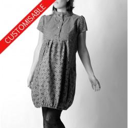 Short sleeved bubble dress - CUSTOM HANDMADE