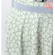 Short pleated floral skirt in pale grey and green