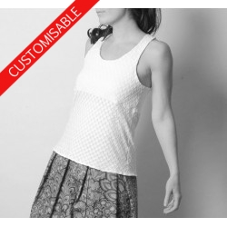 Fitted top with straps crossed at the back - CUSTOM HANDMADE
