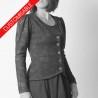 Veste cintrée en jersey, manches longues froncées - PERSONNALISABLE