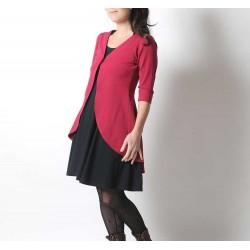 Long fuchsia pink jersey swallowtail sweater