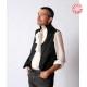 Black grooms waistcoat for wedding