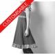 Flared jersey dress, fabric patchwork ruffles, crossed back - CUSTOM