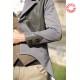 Jaquette homme mariage, gris et détails cuir