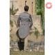 Jaquette artisanale homme mariage, gris et détails cuir