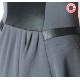 Robe asymétrique grise et noire à manches courtes