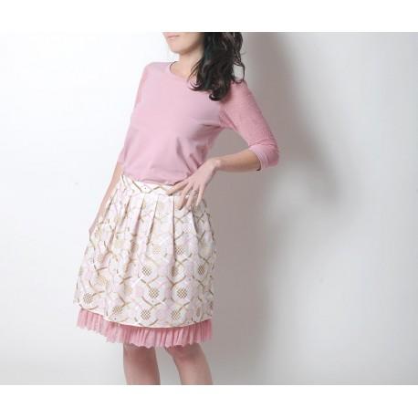 Jupe habillée blanche et rose, Vêtements femme mariage
