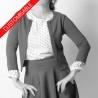 Gilet femme court en jersey - PERSONNALISABLE