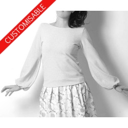 Womens sweater with puffy sleeves - CUSTOM HANDMADE