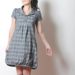 Robe grise originale fabriqué en France créateur femme