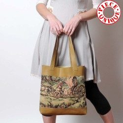 Sac beige shopping cabas made in France créateur français
