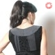 Black and grey sleeveless patchwork bolero