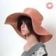 Capeline rose saumon accessoire original femme fabrication française
