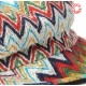 Newsboy cap hat in vintage zigzag colorful fabric