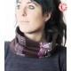 foulard col femme violets accessoire original femme fabrication française