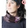 Col foulard original en patchwork tons violets