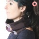 Purple patterned patchwork Cowl Scarf neckwarmer