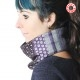 Purple and grey patchwork Cowl Scarf, supple neckwarmer