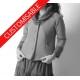 Short winter jacket with wide collar - CUSTOM HANDMADE