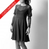 Flared jersey dress with leg-of-mutton sleeves - CUSTOM HANDMADE