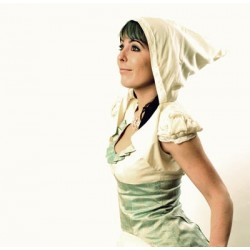 Wedding Goblin Hood White cropped Bolero