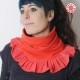fabriqué en France créateur femme Tour de cou rouge plissé à volants