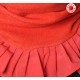 Bright red pleated snood with assorted ruffles