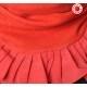 cadeau pour femme Tour de cou rouge plissé à volants