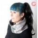 Pale grey patterned patchwork Cowl Scarf Neckwarmer