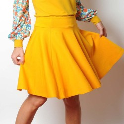 Yellow circle skirt, vintage jersey