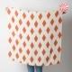 fabriqué en France créateur femme Large foulard beige et orange, losanges vintage