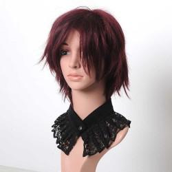 idée cadeau pour femme Collier plissé ras du cou, col amovible dentelle noire