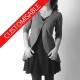 Gilet long en jersey cadeau pour femme à plis dans le dos - PERSONNALISABLE