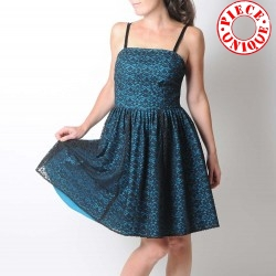 Black and blue lace dress with straps