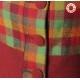 Manteau vintage made in France créateur français rouge carreaux verts, Manteau original pour femme