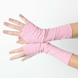 Long dark pink jersey armwarmers