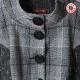 Robe originale de créateur boule noire et blanche, manches courtes