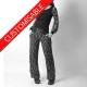 Womens long straight supple pants with stretchy belt - CUSTOM HANDMADE