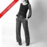 Pantalon femme souple droit, ceinture extensible - PERSONNALISABLE