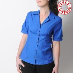 PROTOTYPE Royal blue cotton shirt, short sleeves