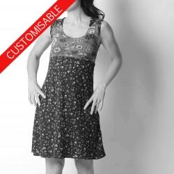 Sleeveless dress with pointy collar - CUSTOM HANDMADE