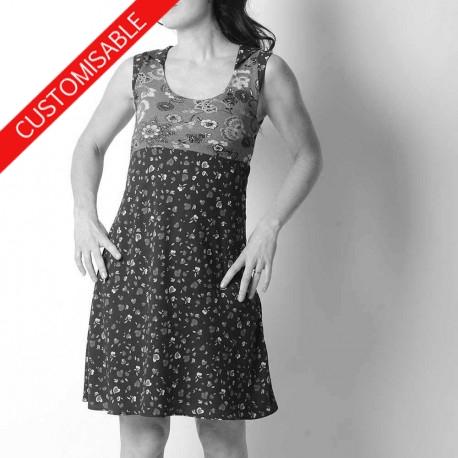 Sleeveless dress with hood or pointy collar - CUSTOM HANDMADE