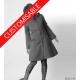 Manteau créateur femme à capuche de lutin