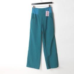 Womens black supple pants, wide legs