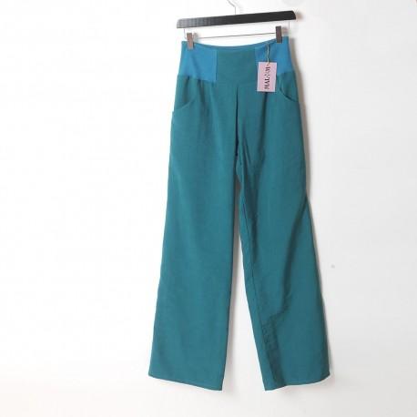 original made in france créateur fabrication française Pantalon femme noir, souple, coupe droite