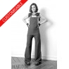 Fitted high-waist women overalls - CUSTOM HANDMADE